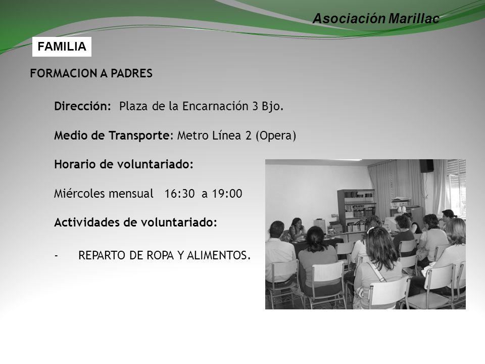Asociación Marillac FAMILIA FORMACION A PADRES