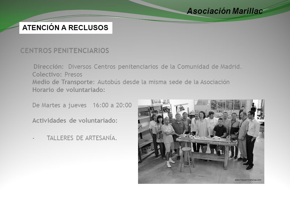 Asociación Marillac ATENCIÓN A RECLUSOS