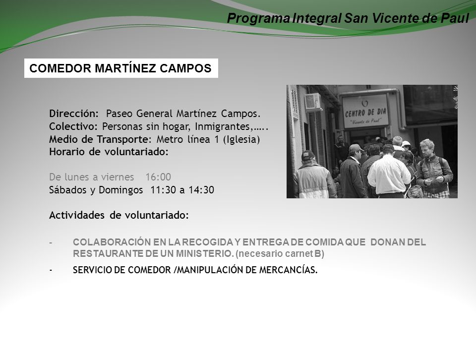 Programa Integral San Vicente de Paul