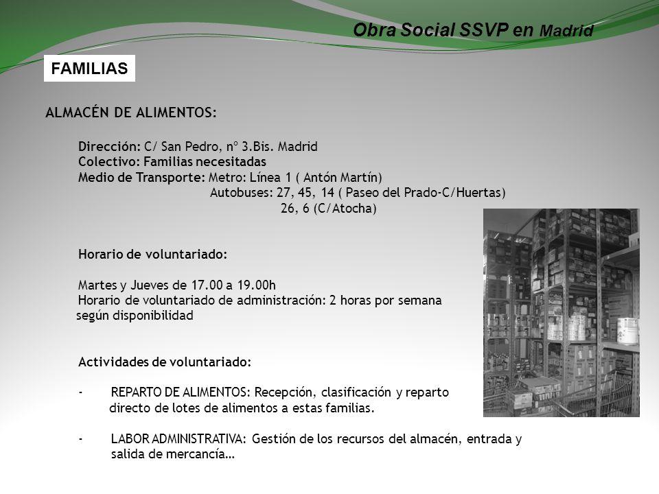 Obra Social SSVP en Madrid