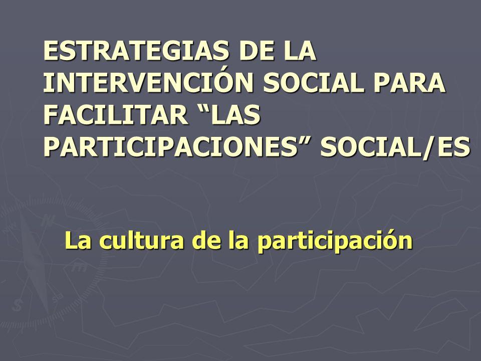La cultura de la participación