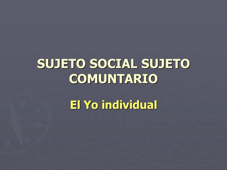 SUJETO SOCIAL SUJETO COMUNTARIO