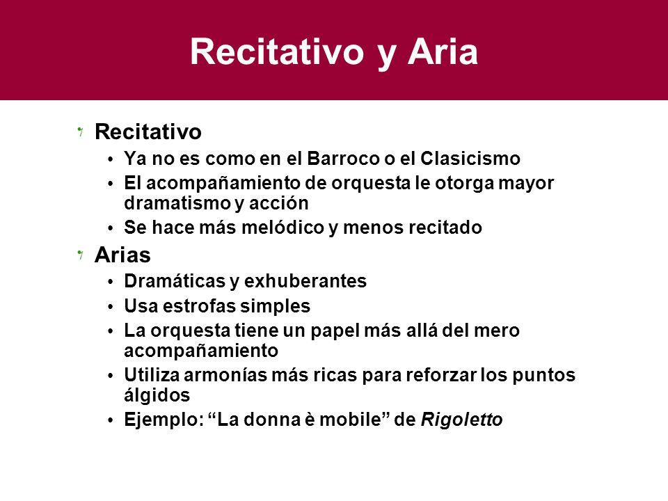 Recitativo y Aria Recitativo Arias