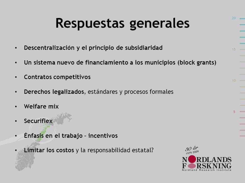 Respuestas generales Descentralización y el principio de subsidiaridad
