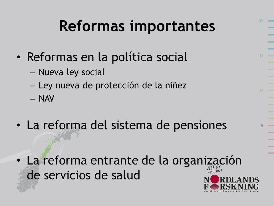 Reformas importantes Reformas en la política social