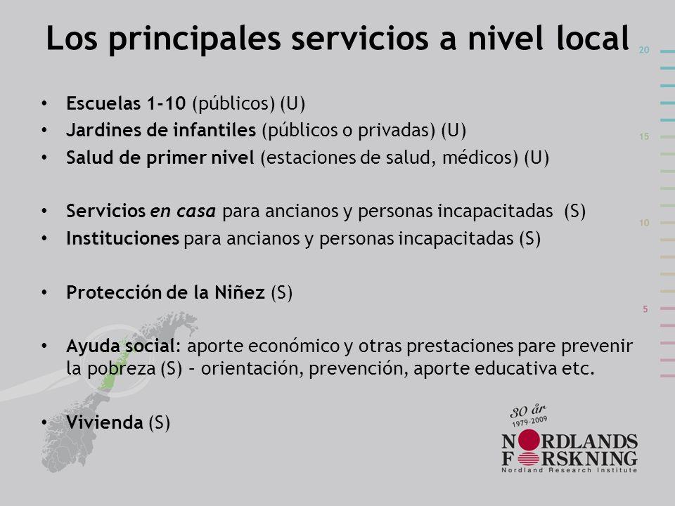 Los principales servicios a nivel local