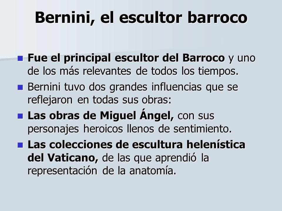 Bernini, el escultor barroco