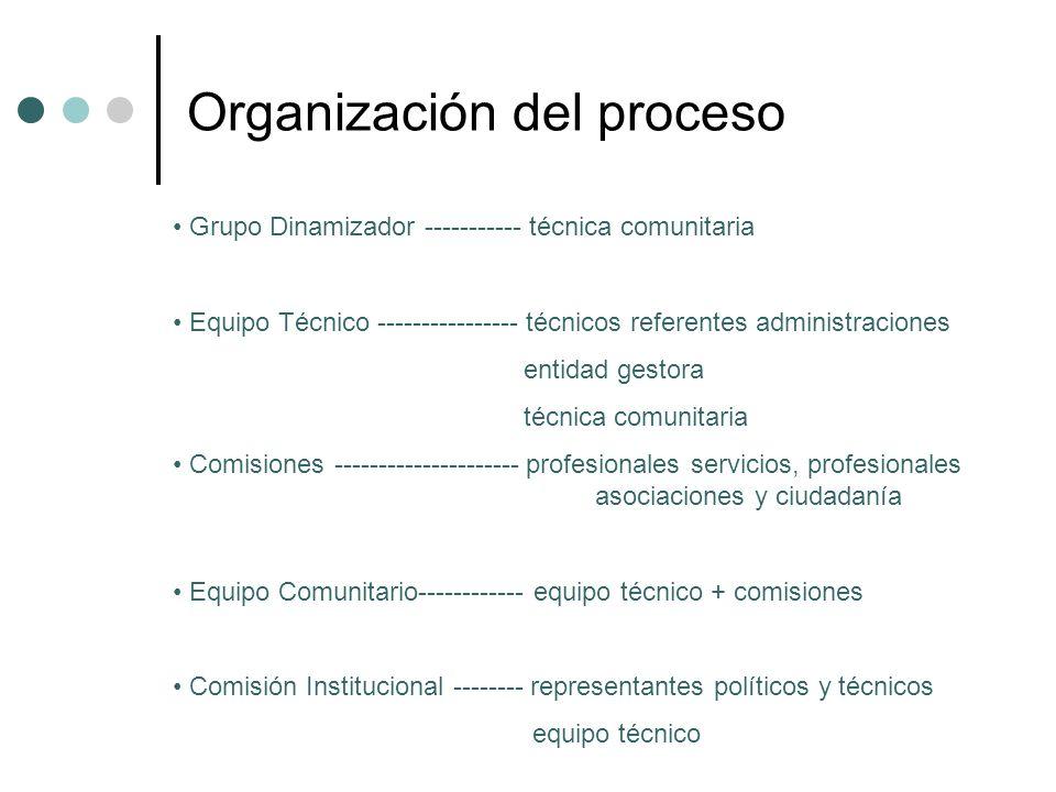 Organización del proceso