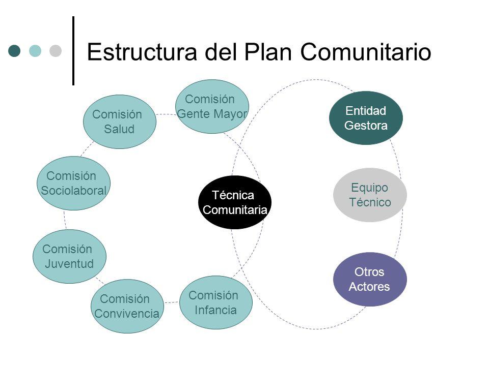 Estructura del Plan Comunitario