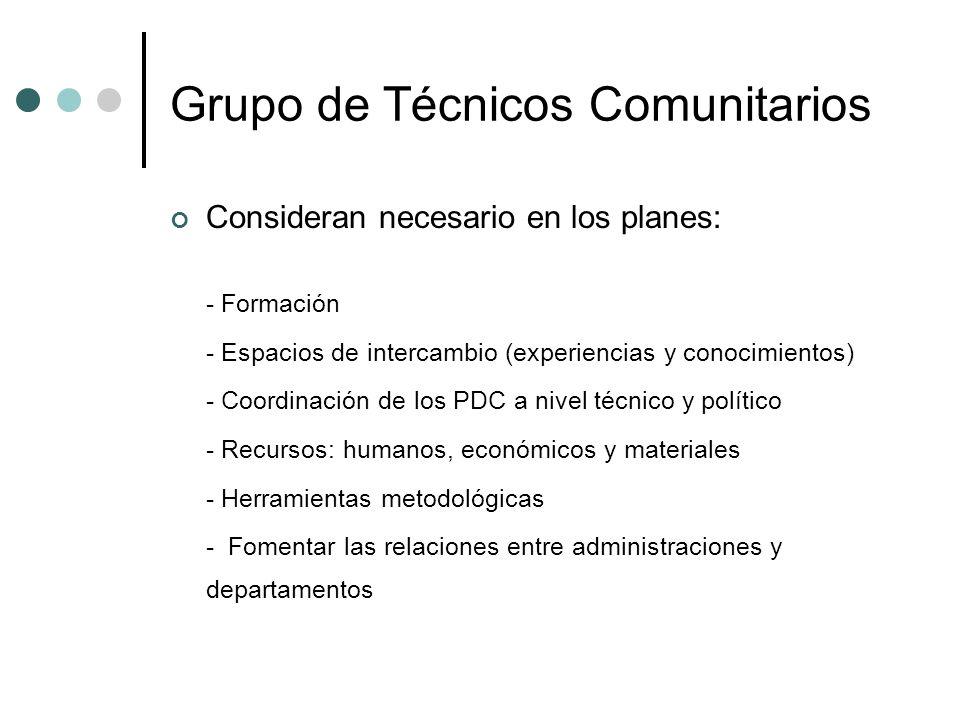 Grupo de Técnicos Comunitarios