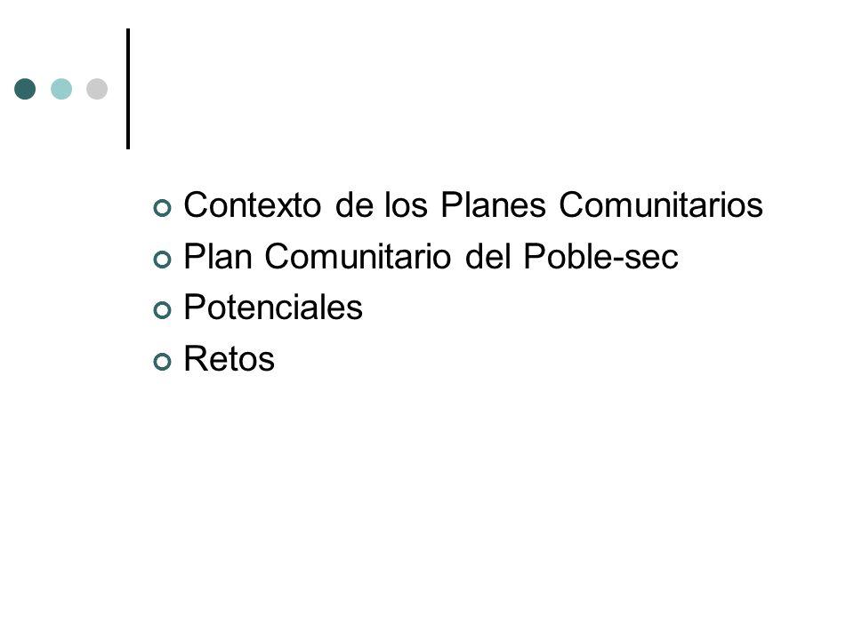 Contexto de los Planes Comunitarios