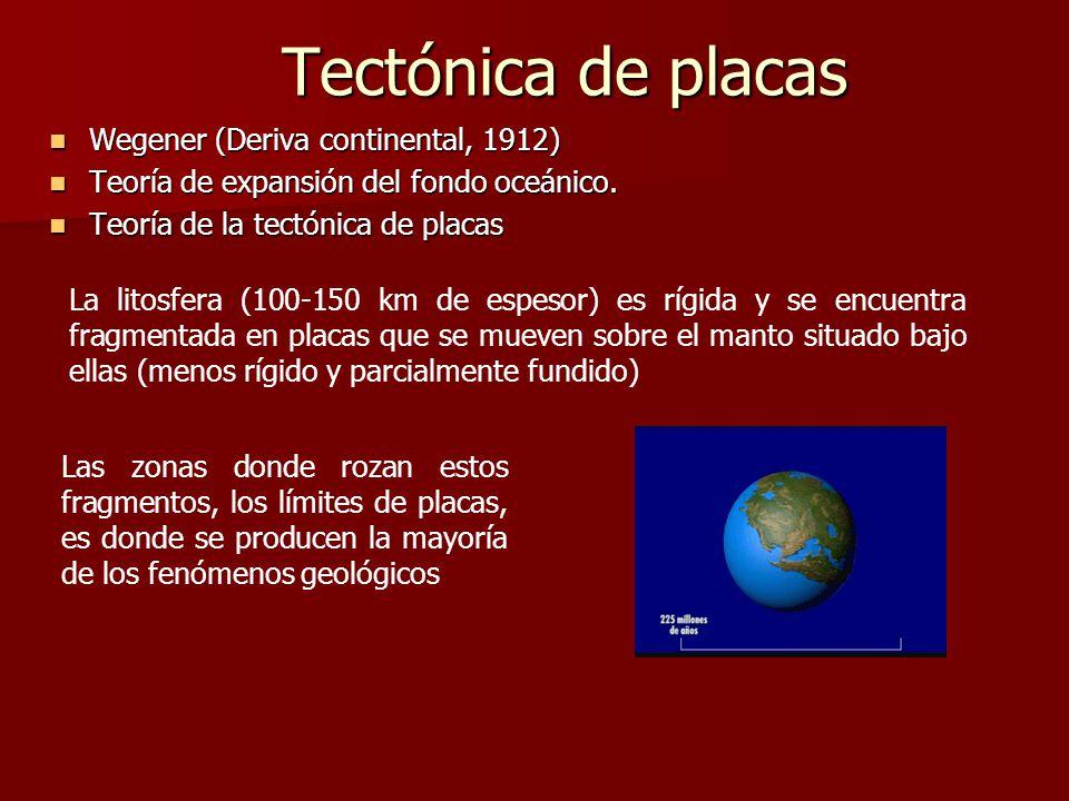 Tectónica de placas Wegener (Deriva continental, 1912)
