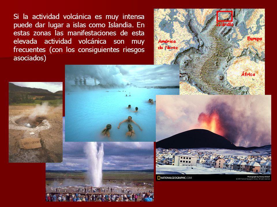 Si la actividad volcánica es muy intensa puede dar lugar a islas como Islandia.
