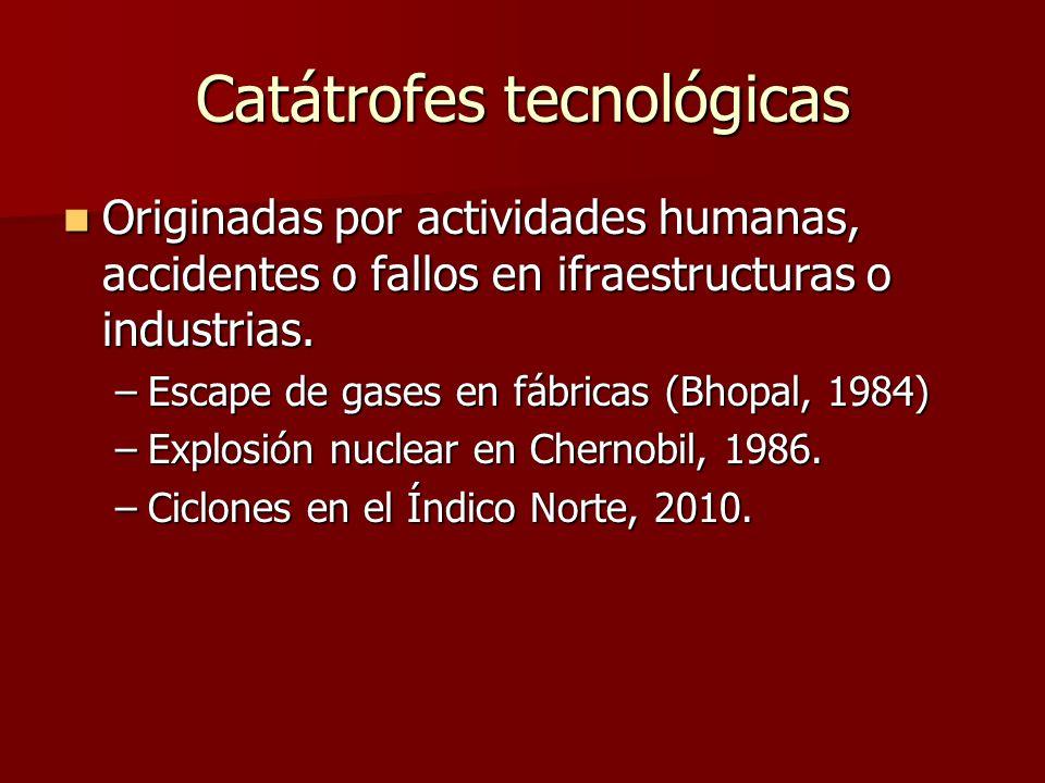 Catátrofes tecnológicas