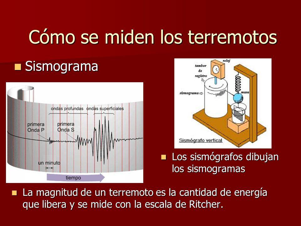 Cómo se miden los terremotos