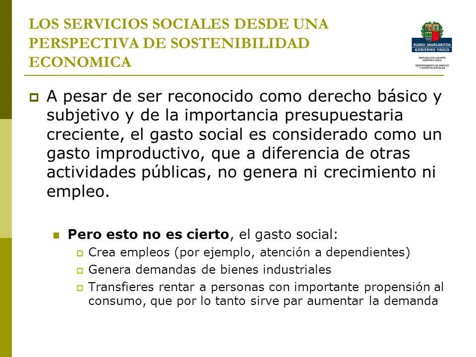 LOS SERVICIOS SOCIALES DESDE UNA PERSPECTIVA DE SOSTENIBILIDAD ECONOMICA