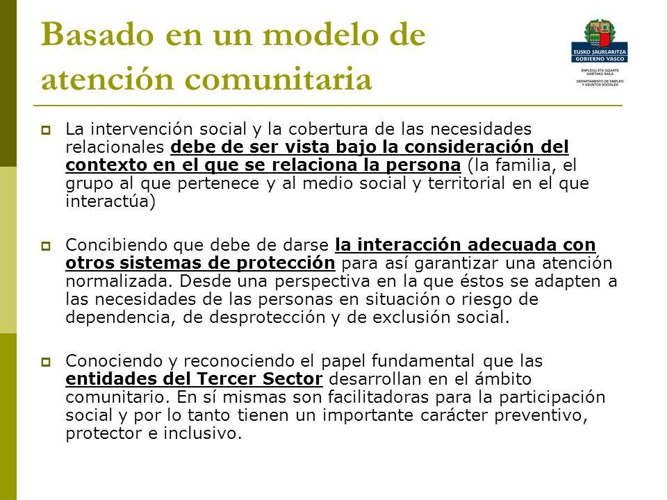 Basado en un modelo de atención comunitaria