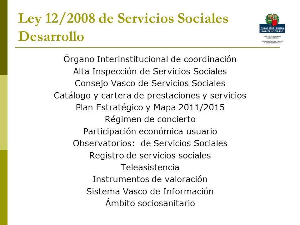 Ley 12/2008 de Servicios Sociales Desarrollo