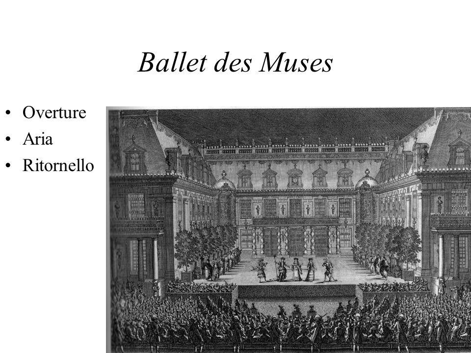 Ballet des Muses Overture Aria Ritornello