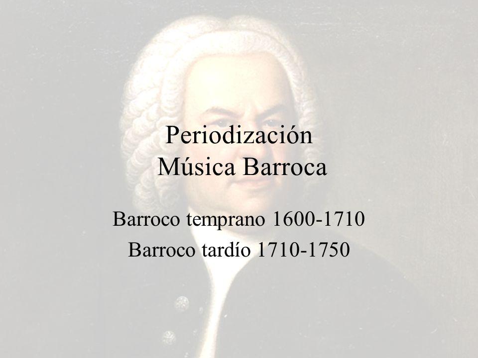 Periodización Música Barroca