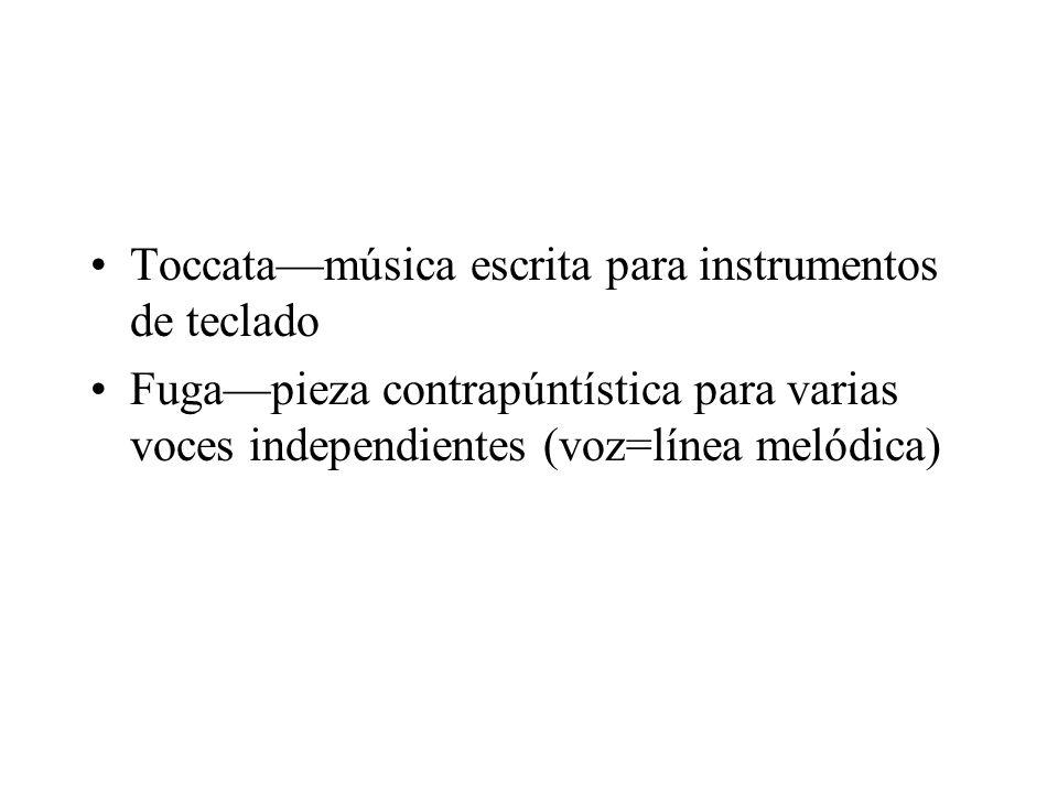 Toccata—música escrita para instrumentos de teclado