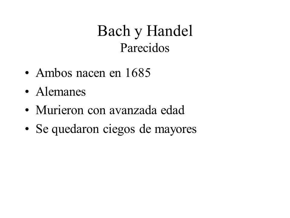 Bach y Handel Parecidos