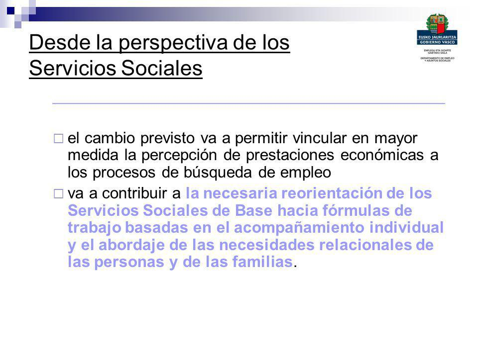 Desde la perspectiva de los Servicios Sociales
