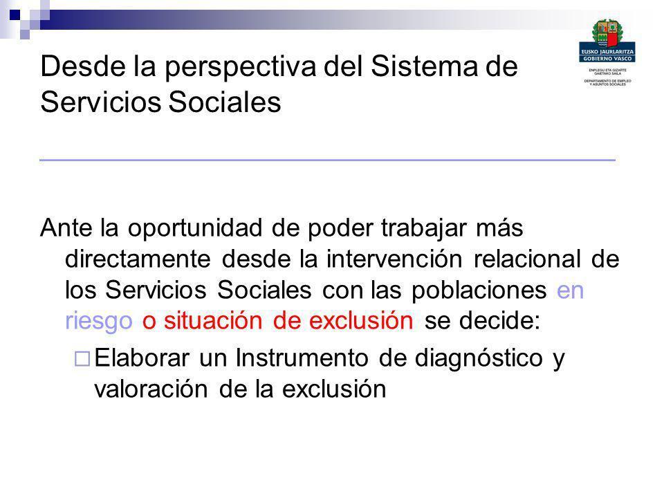 Desde la perspectiva del Sistema de Servicios Sociales