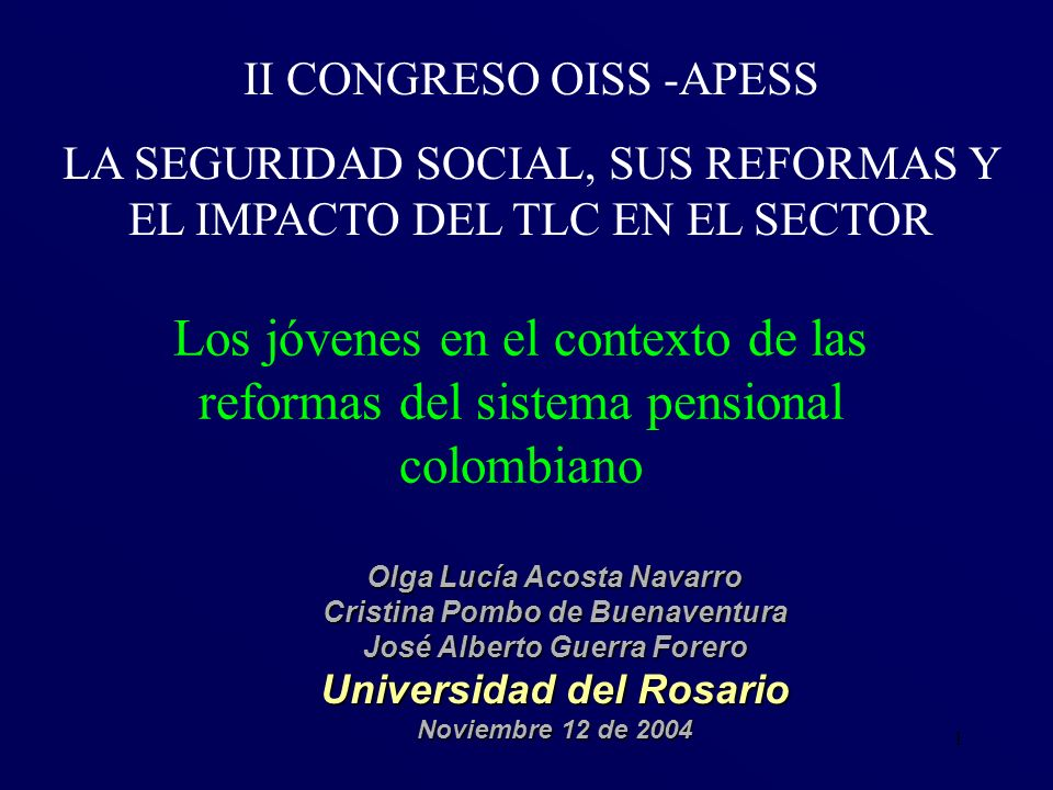 II CONGRESO OISS -APESS