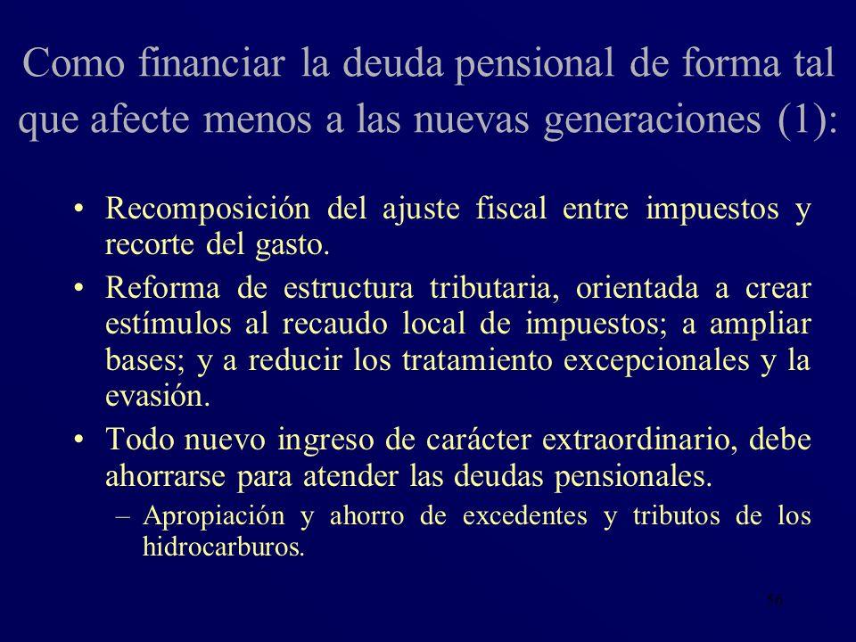 Como financiar la deuda pensional de forma tal que afecte menos a las nuevas generaciones (1):