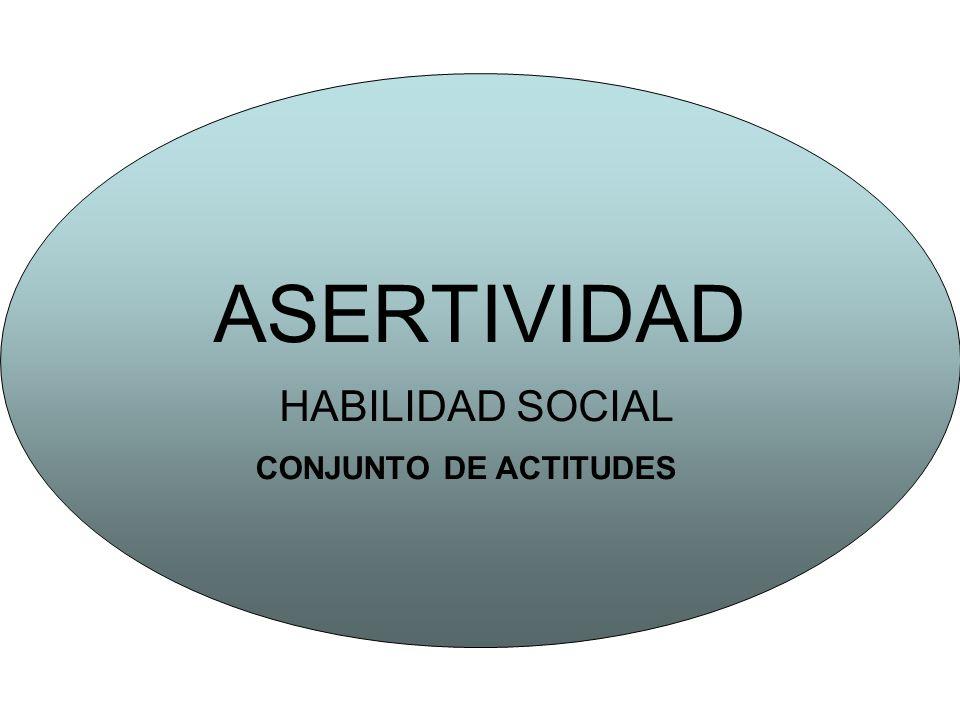 ASERTIVIDAD HABILIDAD SOCIAL CONJUNTO DE ACTITUDES