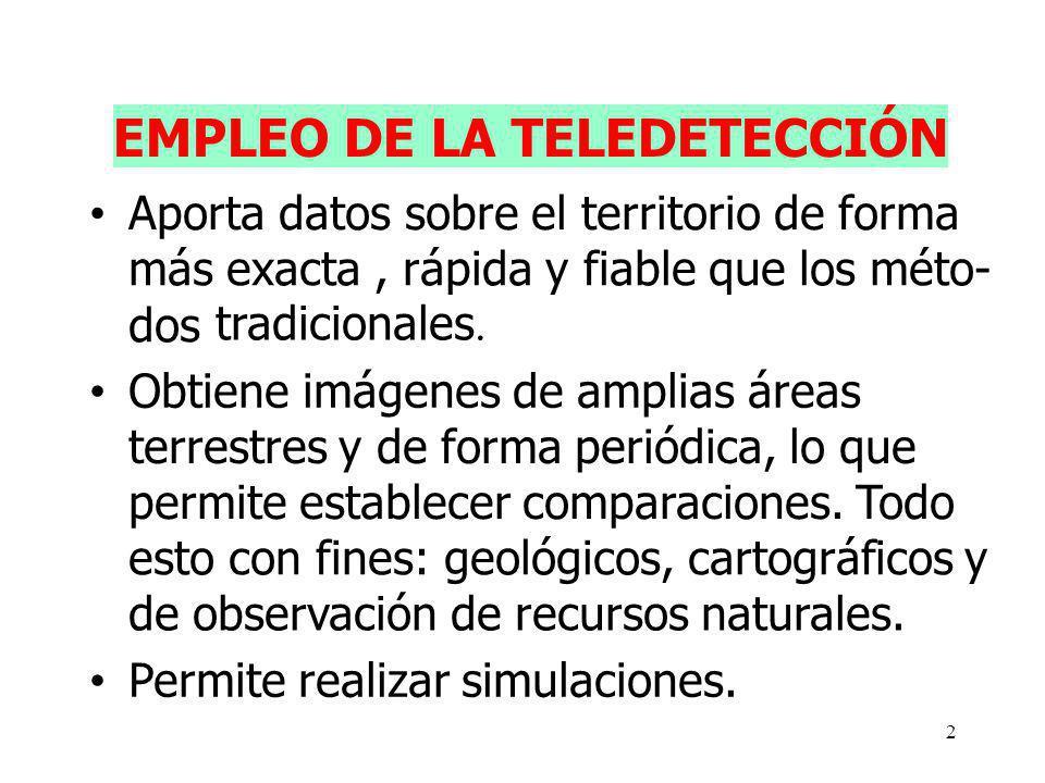 EMPLEO DE LA TELEDETECCIÓN