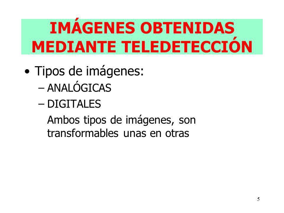 IMÁGENES OBTENIDAS MEDIANTE TELEDETECCIÓN