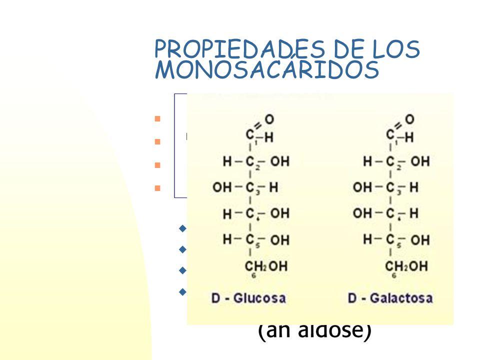 PROPIEDADES DE LOS MONOSACÁRIDOS