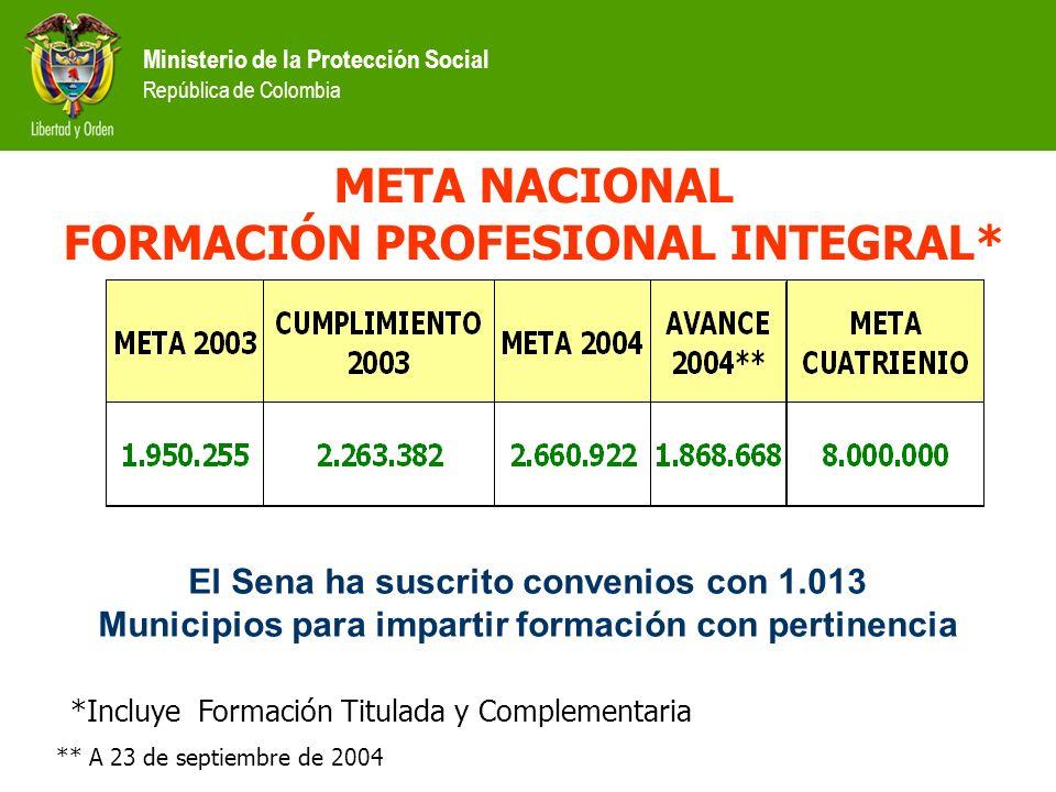 META NACIONAL FORMACIÓN PROFESIONAL INTEGRAL*