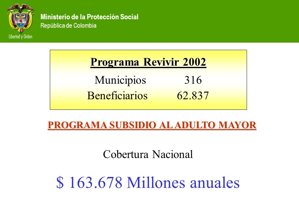 PROGRAMA SUBSIDIO AL ADULTO MAYOR