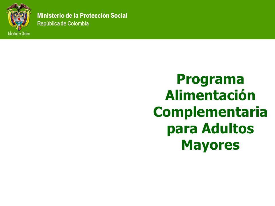 Programa Alimentación Complementaria para Adultos Mayores