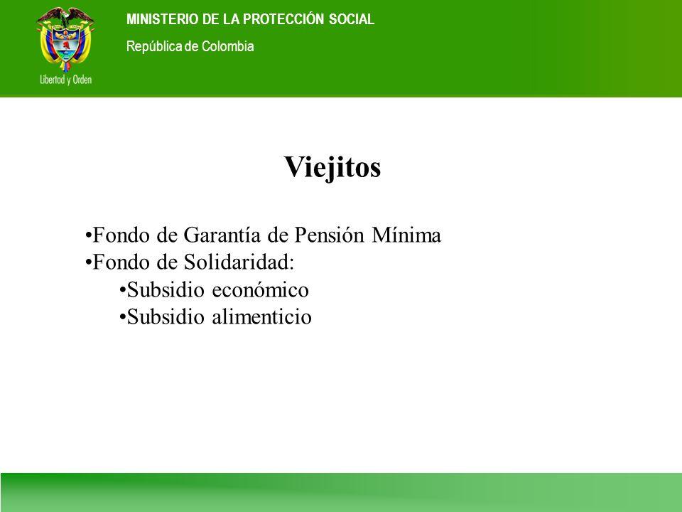 Viejitos Fondo de Garantía de Pensión Mínima Fondo de Solidaridad: