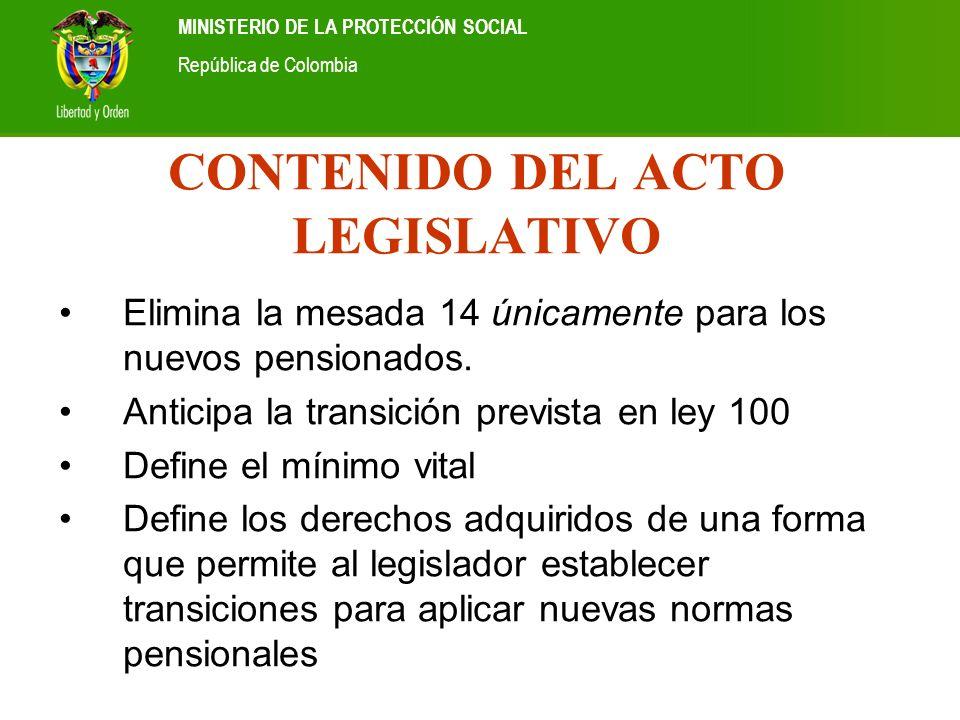 CONTENIDO DEL ACTO LEGISLATIVO