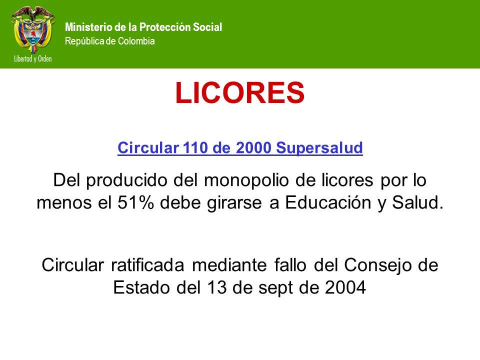 Circular 110 de 2000 Supersalud