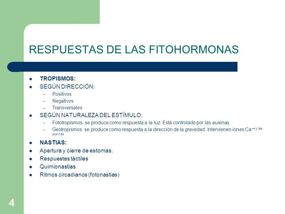 RESPUESTAS DE LAS FITOHORMONAS