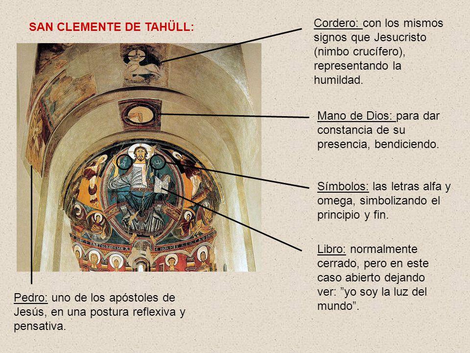 Cordero: con los mismos signos que Jesucristo (nimbo crucífero), representando la humildad.