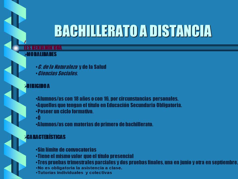 BACHILLERATO A DISTANCIA