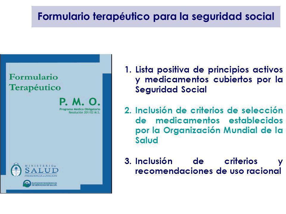 Formulario terapéutico para la seguridad social
