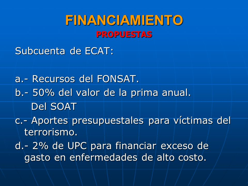 FINANCIAMIENTO PROPUESTAS