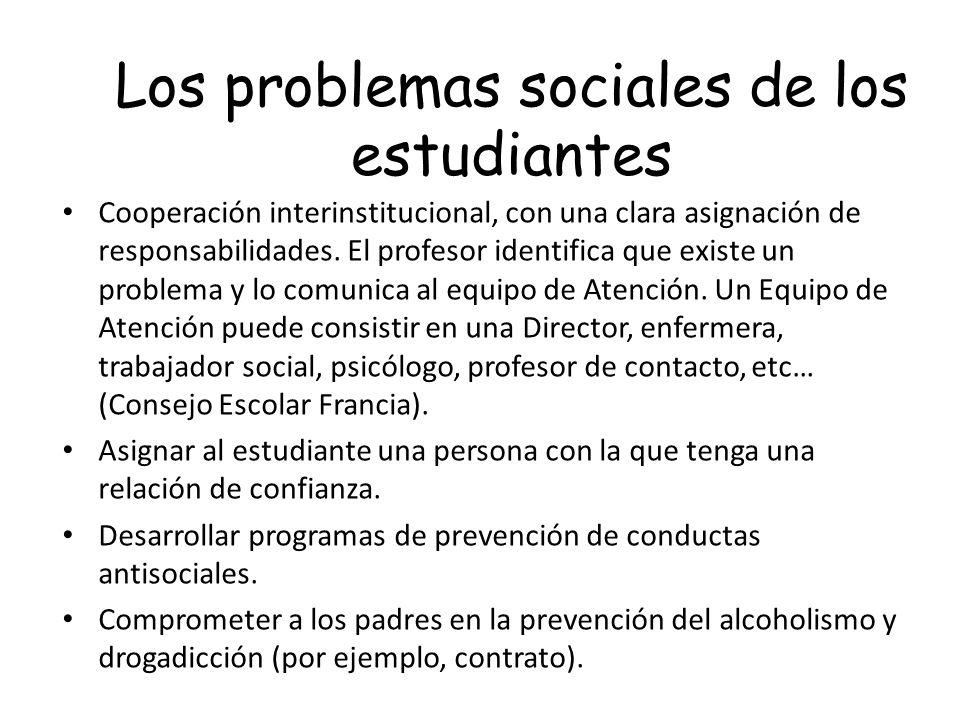 Los problemas sociales de los estudiantes