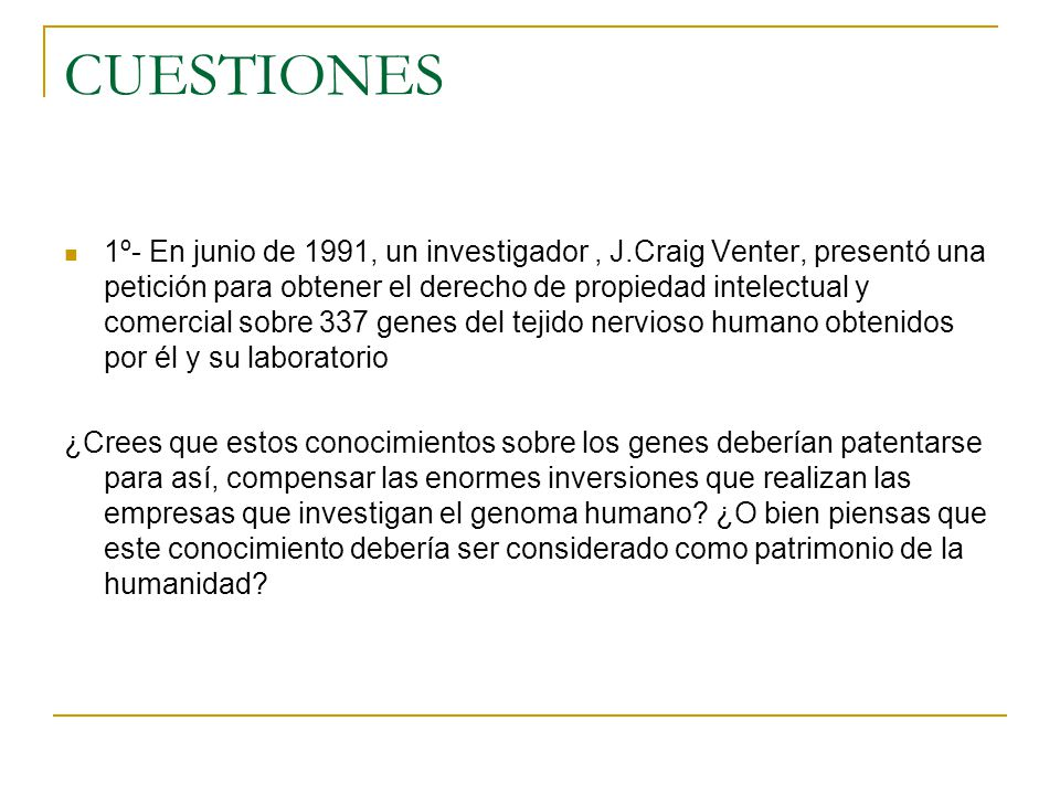 CUESTIONES
