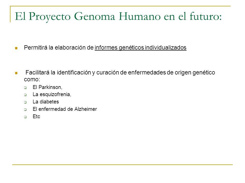 El Proyecto Genoma Humano en el futuro: