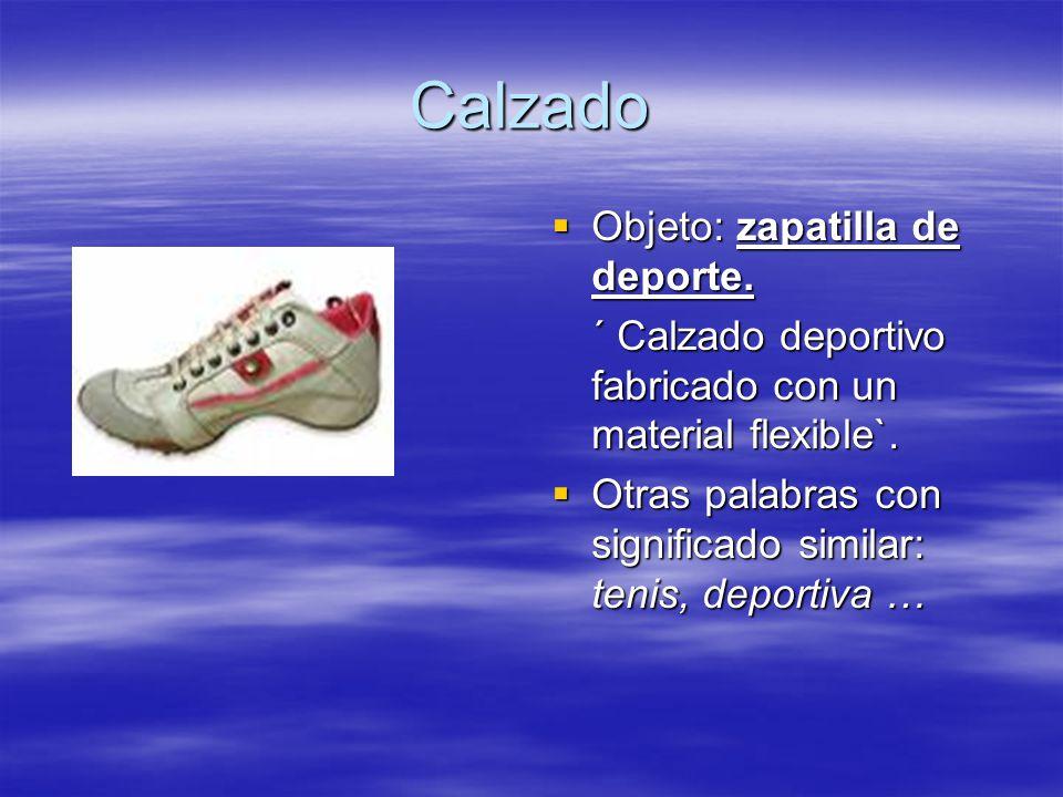 Calzado Objeto: zapatilla de deporte.