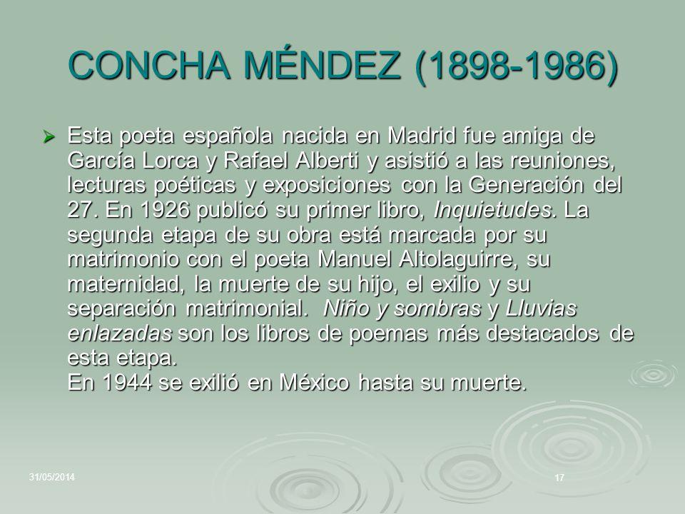 CONCHA MÉNDEZ (1898-1986)
